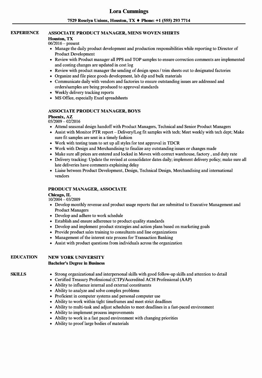 it program manager resume of product manager resume