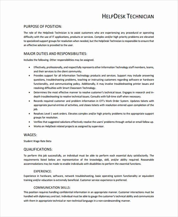 7 It Support Technician Resume Free Templates
