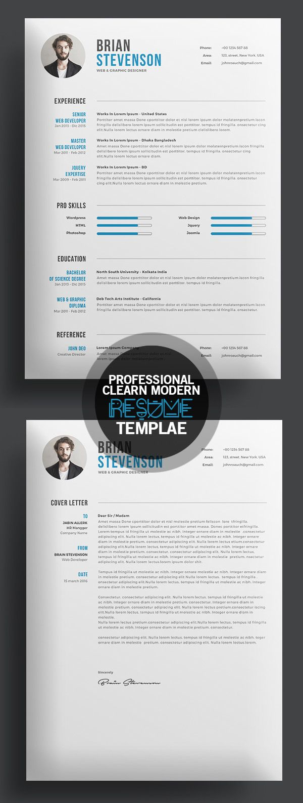 Creative Clearn Professional Resume Template