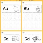 Letter A Activities for Preschool Printables Alphabet Worksheets Of Free Alphabet Tracing Worksheets