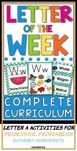 Letter A Activities for Preschool Printables Alphabet Worksheets Of Letter Of the Week A Z Letter Of the Day A Z