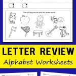 Letter Recognition Activities Printables Alphabet Worksheets Of Letter Review Alphabet Worksheets