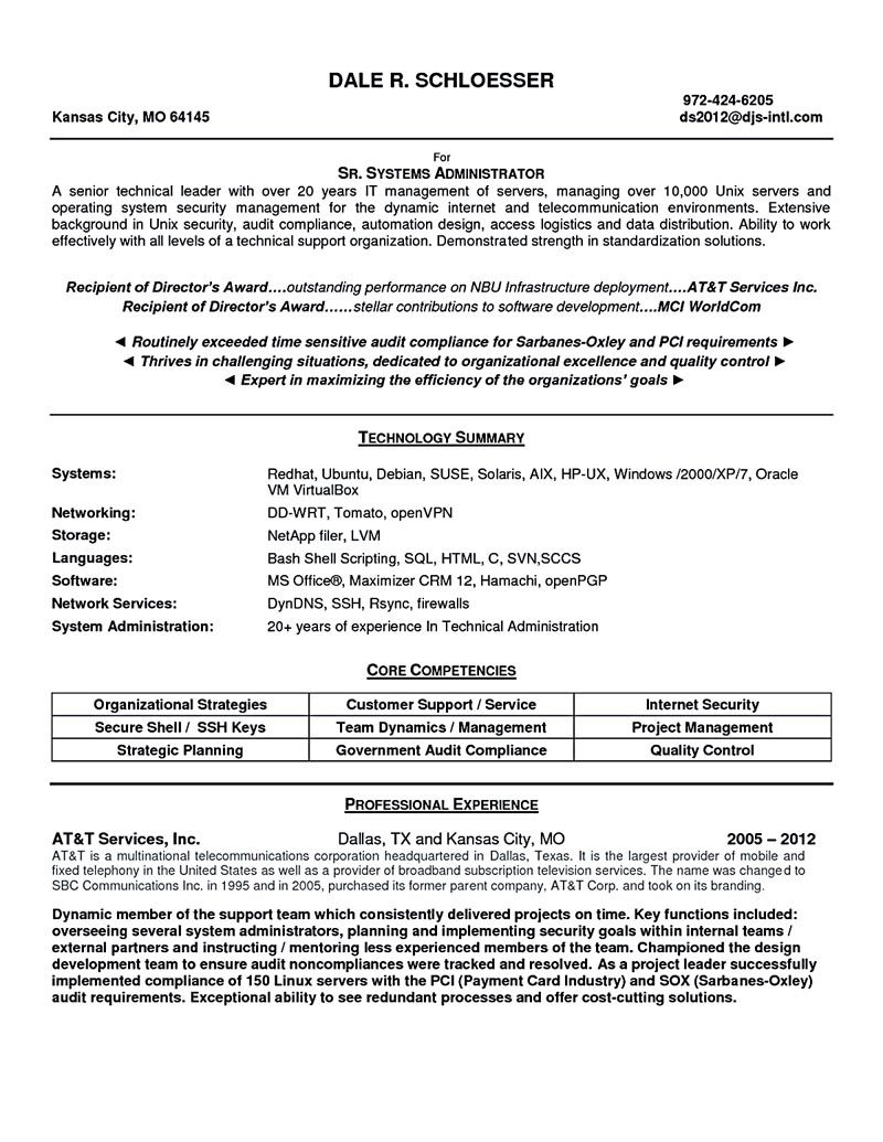 System administrator resume includes a snapshot of the skills both technical and nontechnical skills of system administrator including relevant educat linux system administrator resume