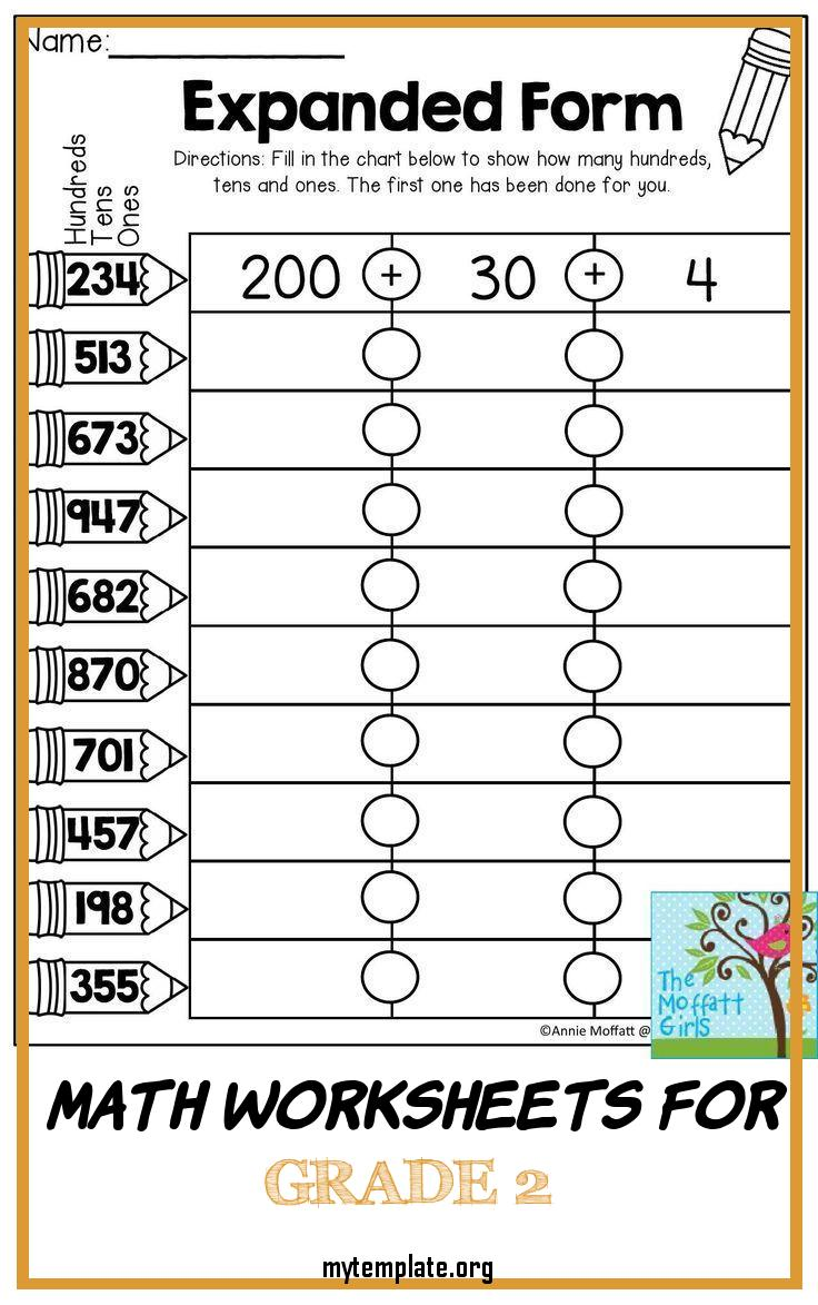 8 Math Worksheets For Grade 2 - Free Templates