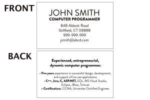 Mini Resume Templates and Samples for Networking