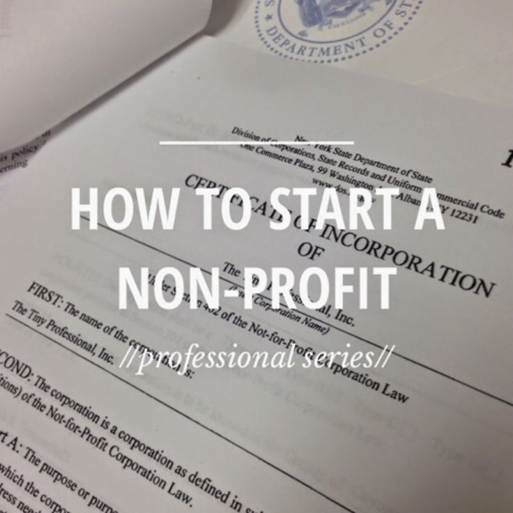 The Steps to Start a Non Profit