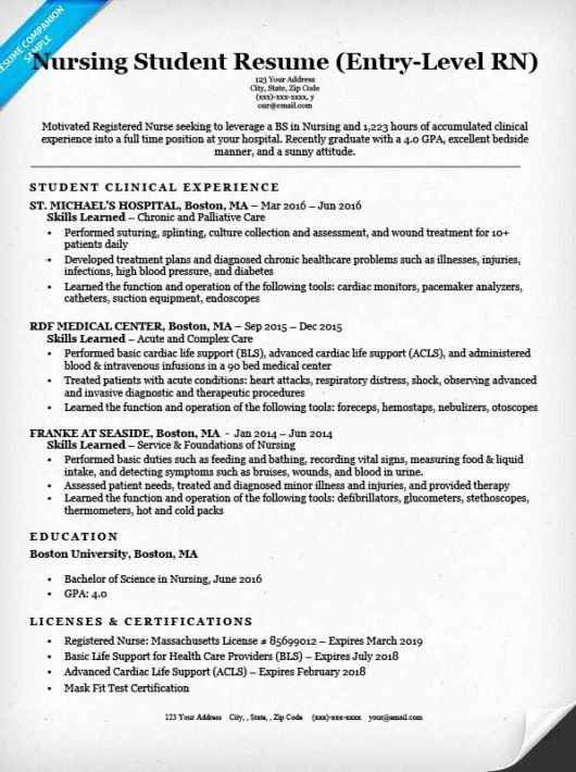 6 Nurse Resume Samples Free Templates