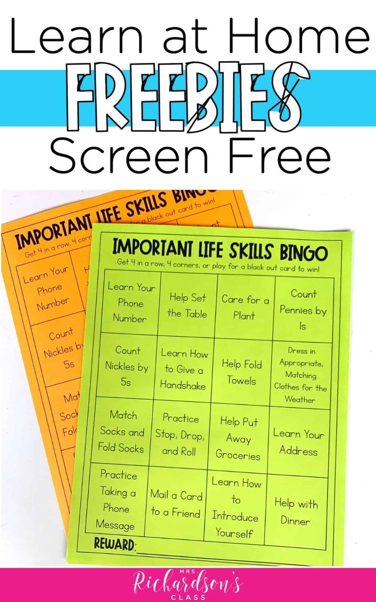 6 Screen Free Activities to Support Distance Learning