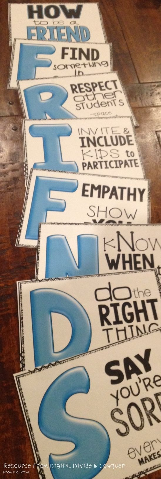 FRIEND used this acronym idea when teaching activity day girls ed well good discussion