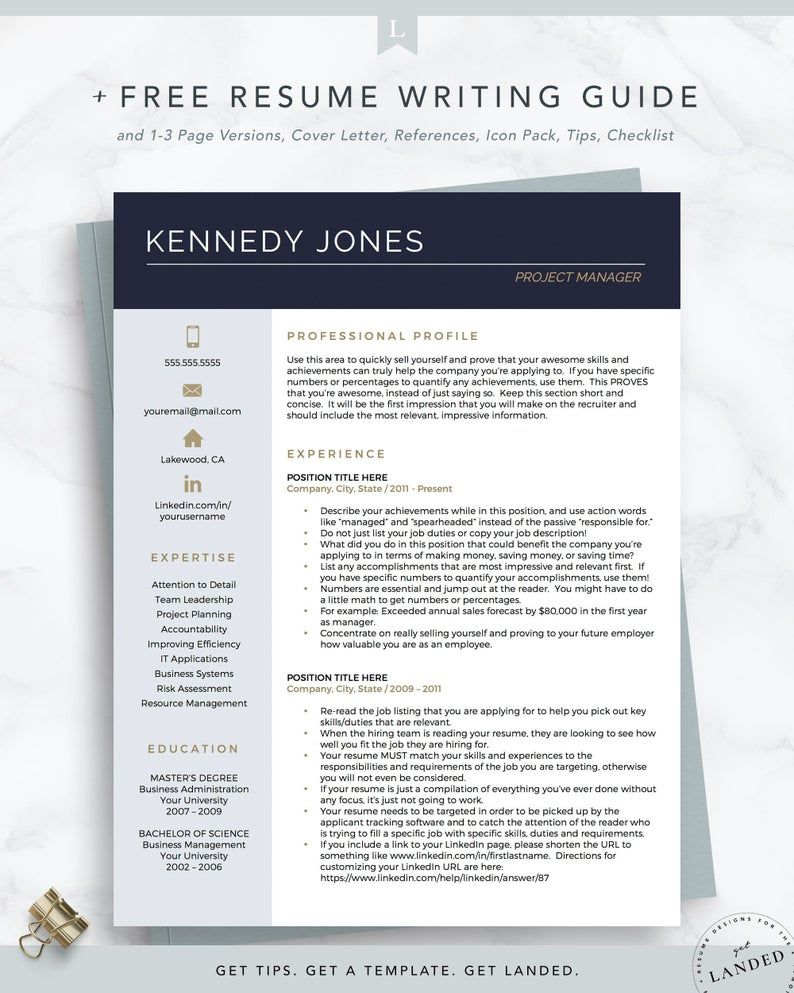 Project Manager Resume Template Creative CV Template for Word and Pages Public Relations Resume Design