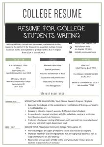 Resume for College Students Writing Of College Student Resume Sample & Writing Tips