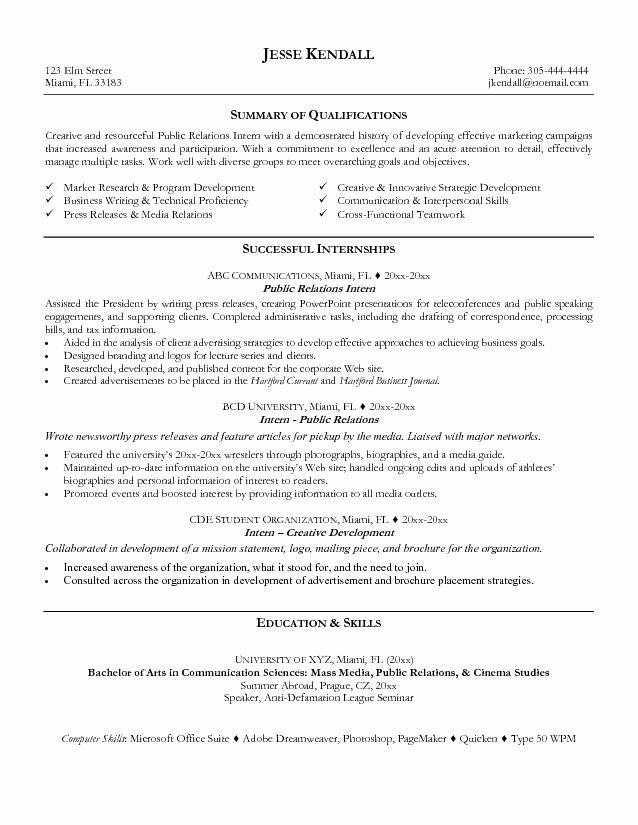 Public Relations Resume Example Inspirational 7 Best Public Relations Pr Resume Templates & Samples