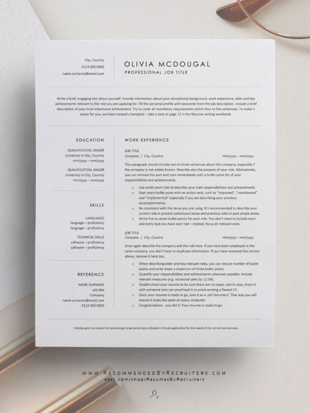 Minimalist Resume Template for Executive Professionals Clean and Simple CV Design Inspiration
