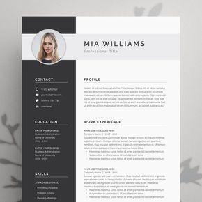 Resume Template Resume Template Word Resume with Resume with Cover Letter Professional Resume CV Template CV Modern Resume Word