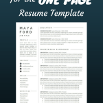 Resume Template Professional Free Of Resume Template E Page Resume Professional Resume Modern Resume Resume Word Cv Template Cover Letter Pact Resume