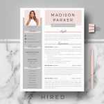 Resume Template Professional Of R39 Madison Parker Creative & Modern Resume Cv Template for Word & Pages