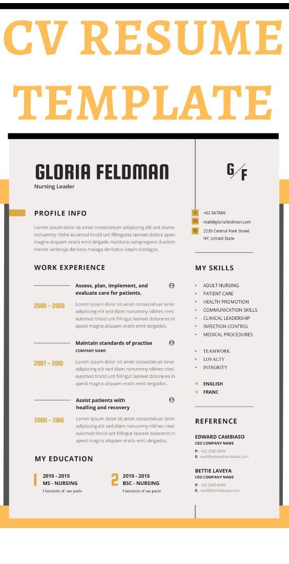Nurse Resume Template Google Doc