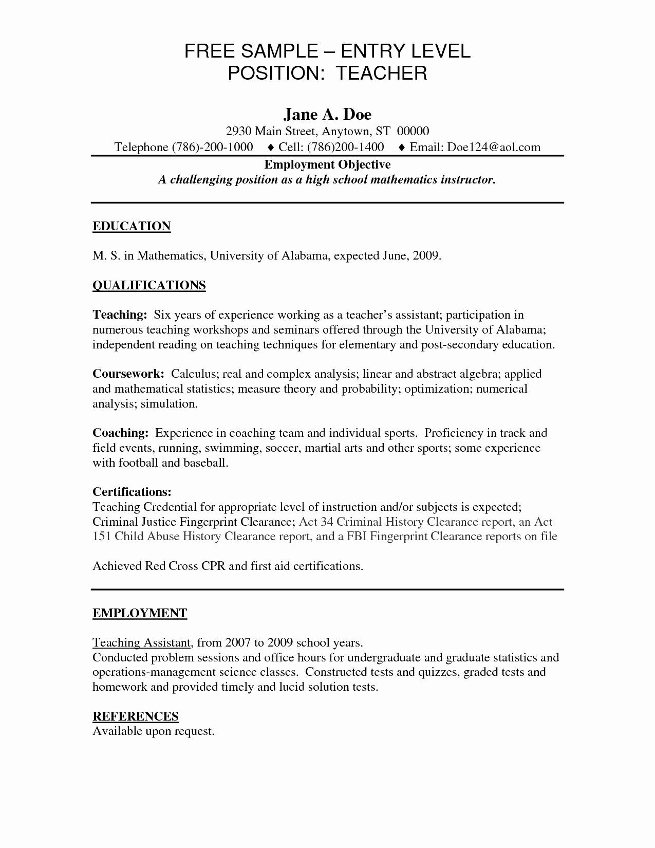 Entry Level Product Manager Resume Inspirational 12 13 Sample Career Objective for Teachers Resume