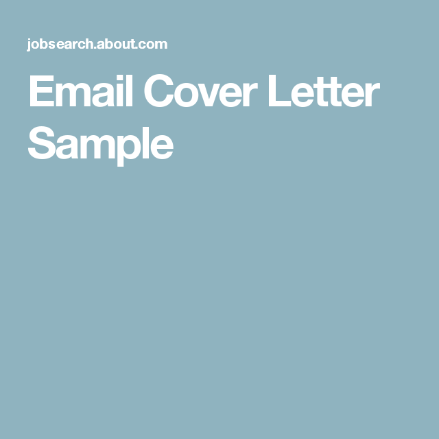 These Tips Will Help With Sending an Email Cover Letter