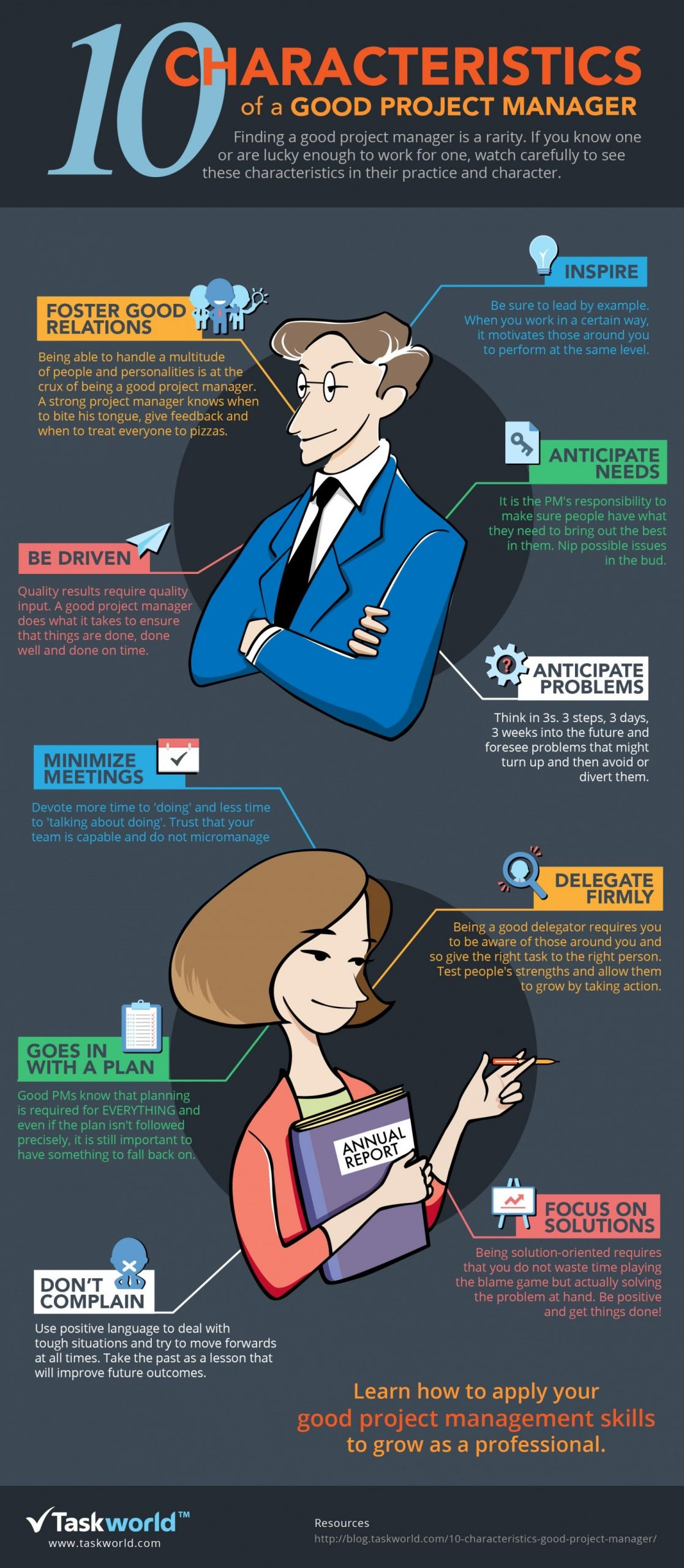 10 Characteristics of a good project manager