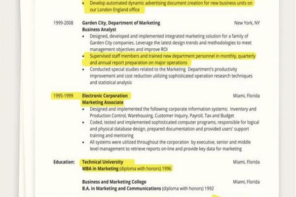 Sample Resume Summary Statement Of Tips On How to Write A E Page Resume