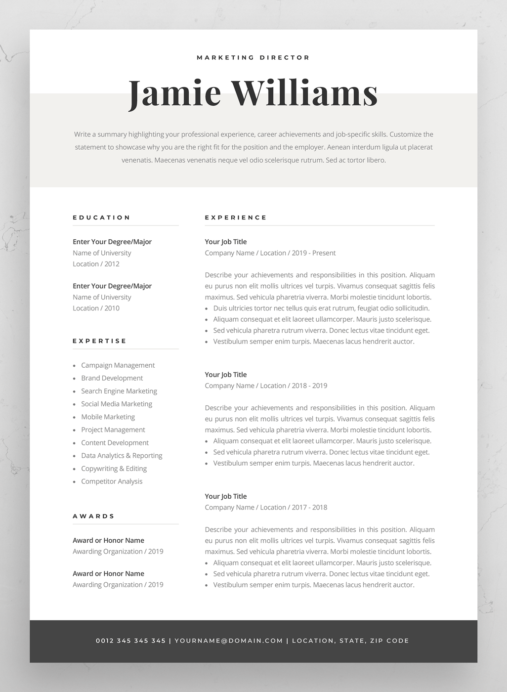 Simple Cover Letter Example Cv Template Of Modern Resume ...