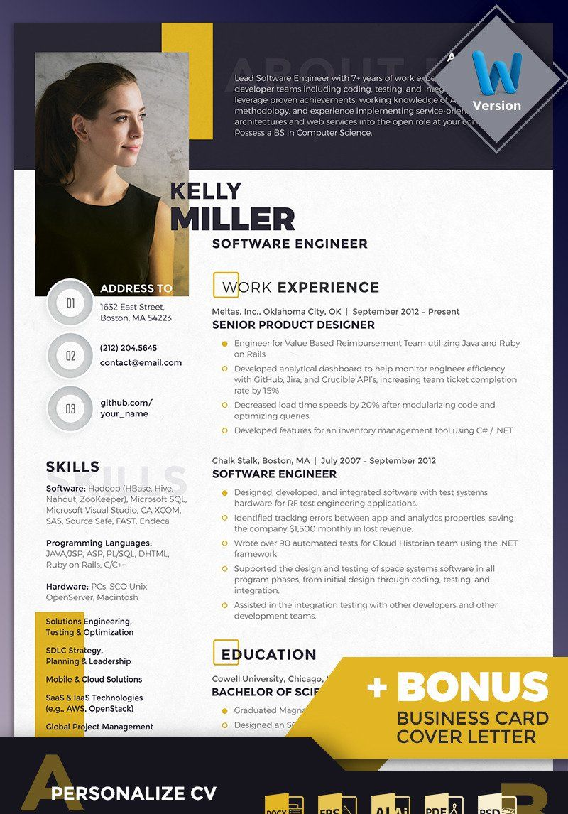 8 Software Engineer Resumes Free Templates