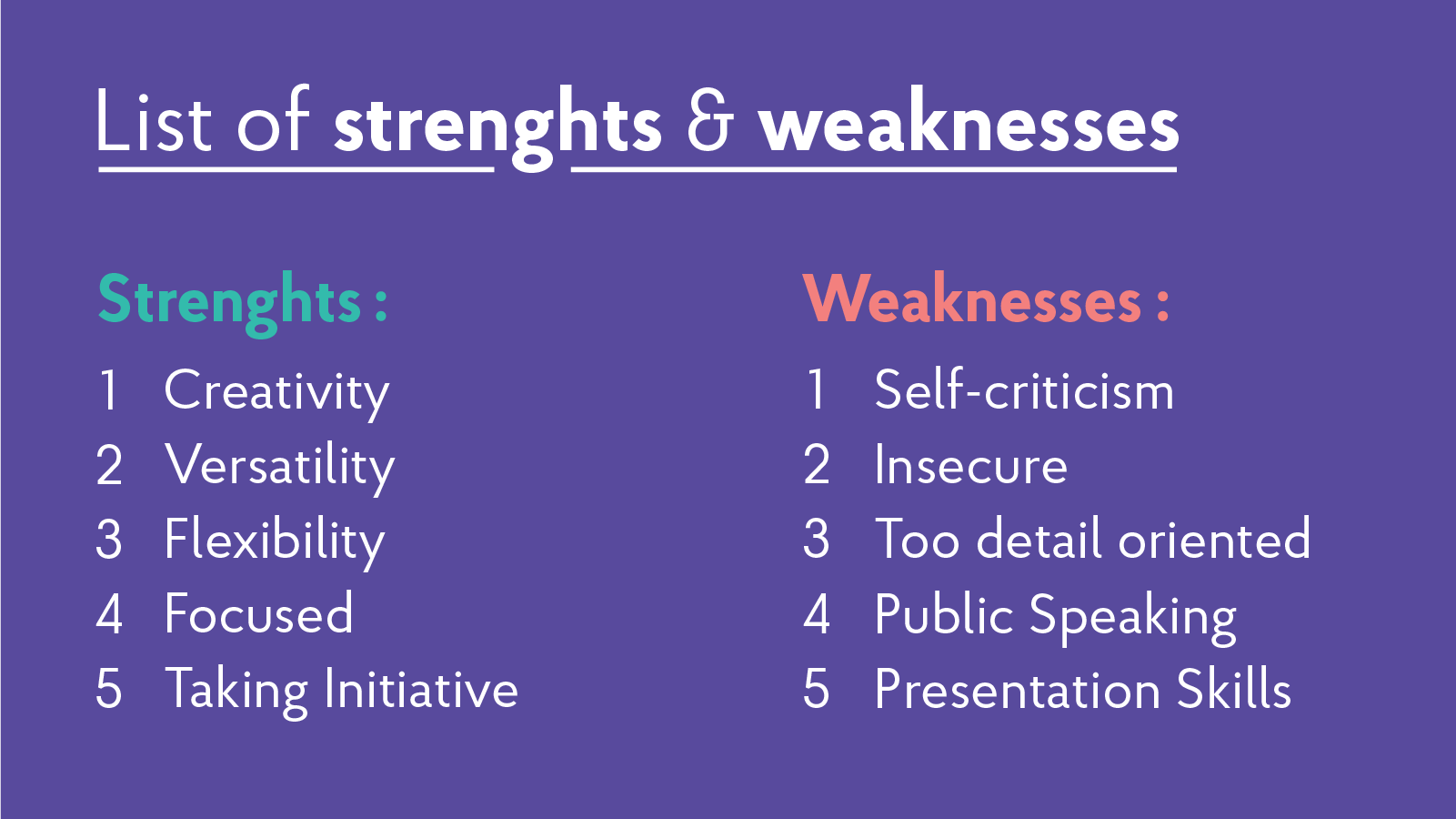 2019 Strengths & Weaknesses for Job Interviews [ Best Answers]