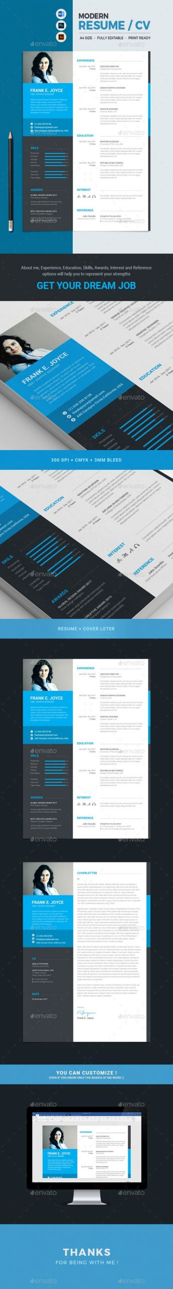 This Modern Clean and Minimal Resume with strong typographic structure is very easy to use and customize This resume is very well organized and labeled for you to the best result in the minimum possible time Statement Experience Education Skills Award Interests and Reference included in this Resume template which will be helpful for you to express your strengths and to your dream job
