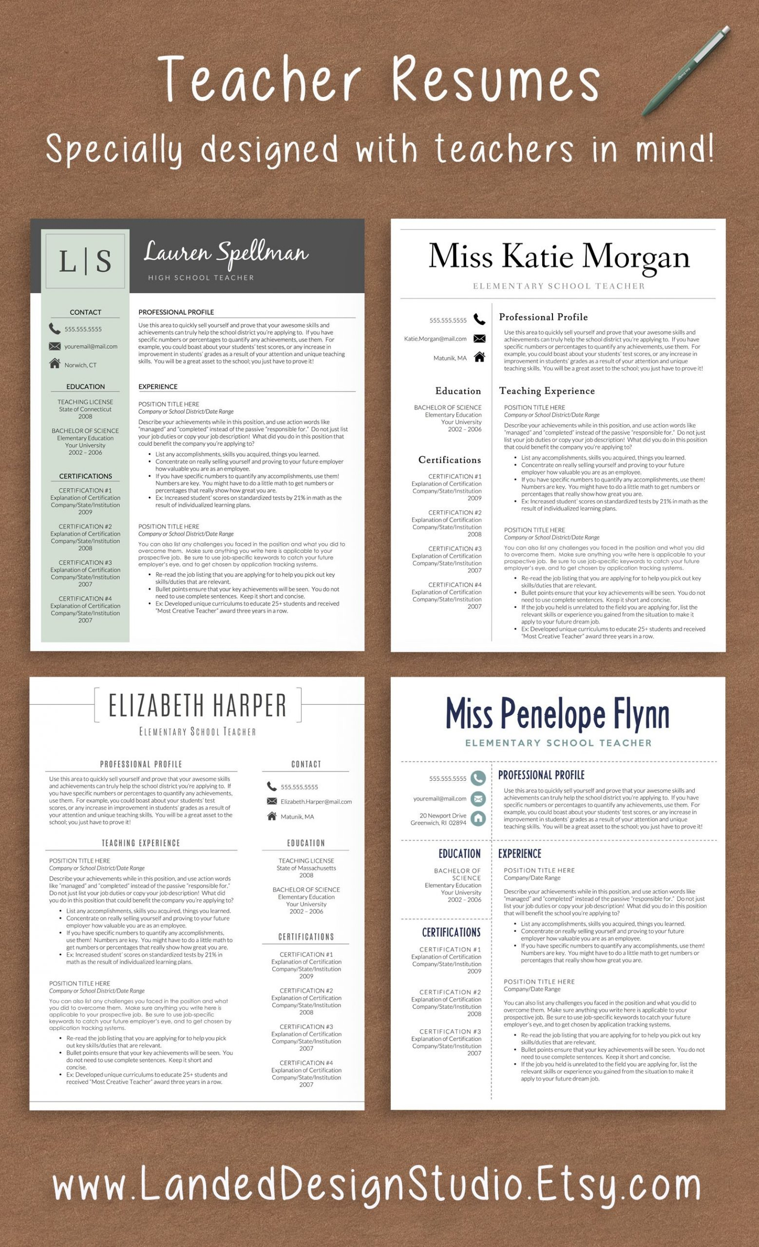 Professionally designed resumes with teachers in mind pletely transform your resume with a teacher resume template for $15