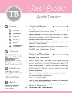 Teacher Resume Examples Of Resume Template Cover Letter and Reference Editable Pink Light Gray
