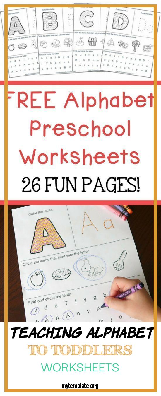 6 Teaching Alphabet To Toddlers Worksheets - Free Templates