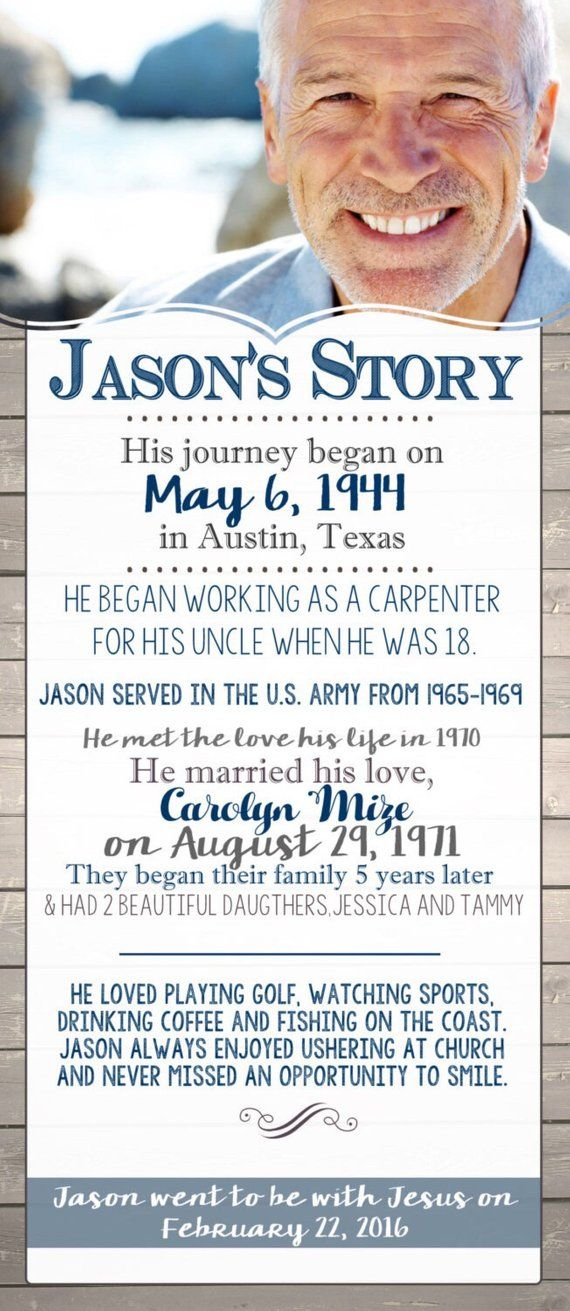 The Story Celebration of Life Funeral Program Memory Card by Deerly Designed Memorial Card Obituary