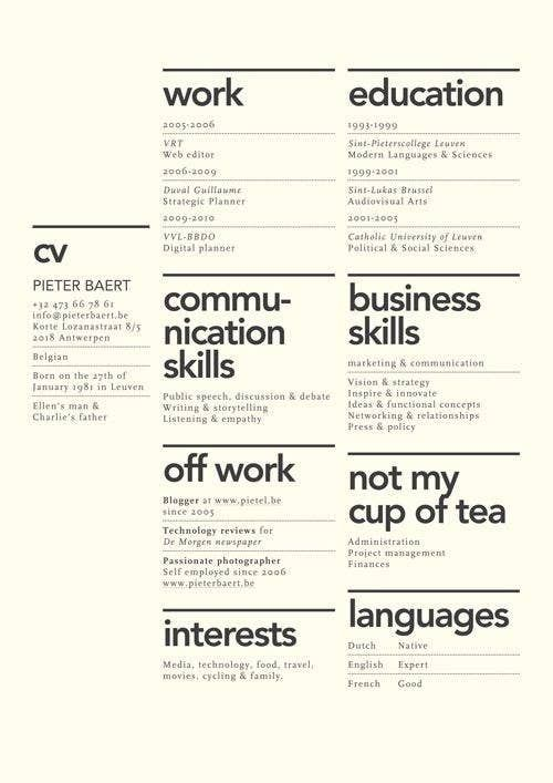 27 Beautiful Résumé Designs You ll Want To Steal