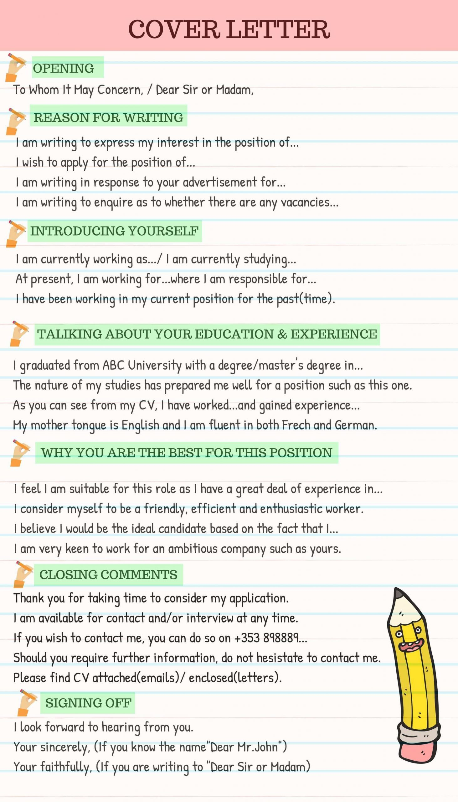 How to Write a Cover Letter Effectively ESLBuzz Learning English