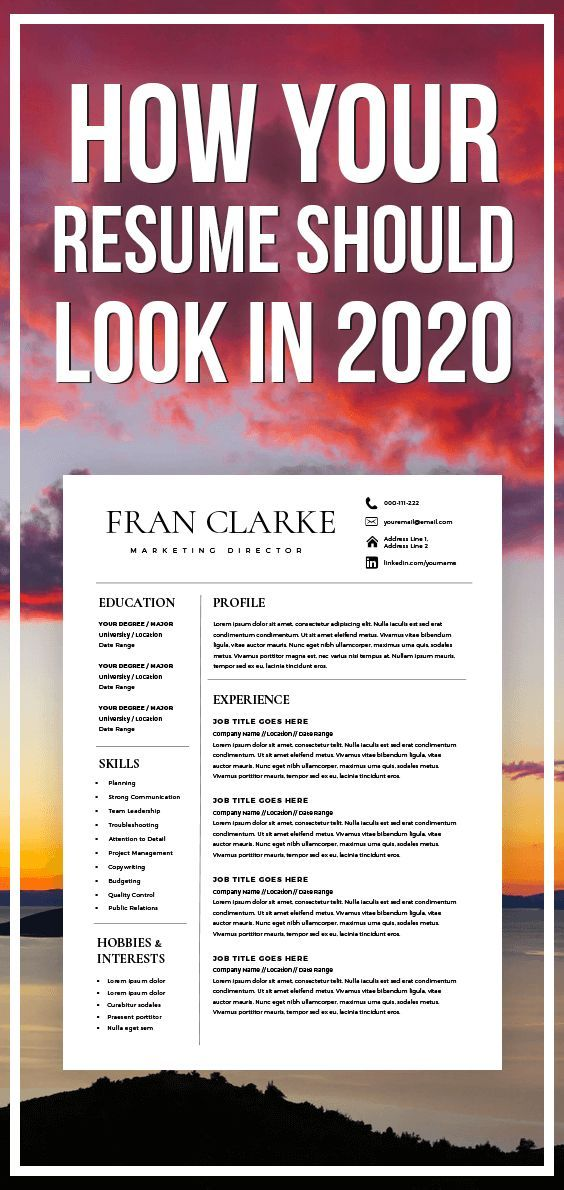 Creative Resume Template for Word 1 2 Page Resume Template and Cover Letter DIY Resume Template