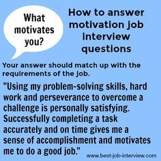 Top Interview Questions and Answers What motivates you
