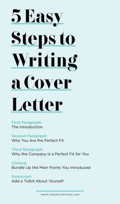 Career Advice 5 Easy Steps to Writing a Cover Letter