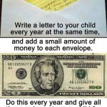 Writing A Letter Of Interest Of Annual Idea Write A Letter to to Child Each Year Incld $ and at Age 18 they Ll Have 18 Letters to Open Plus A Graduation Present