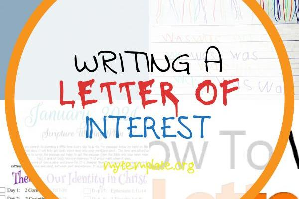 Writing A Letter Of Interest Of How to Write A Letter Interest 3 Great Sample Templates Included