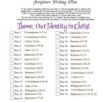 Writing A Letter Of Interest Of January 2021 Scripture Writing Plan –our Identity In Christ