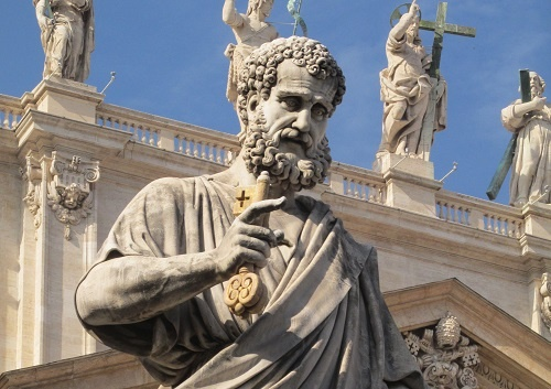 Image result for St. Peter holding the keys