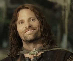 Aragorn bei der Ankunft in Isengard