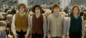 Merry, Frodo, Sam und Pippin