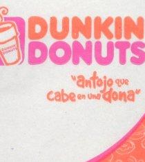 Dunkin' Donuts napkin.