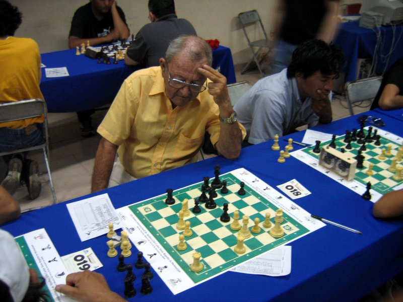 Carlos playing chess