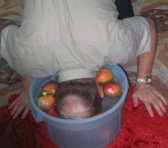 Me bobbing for apples.