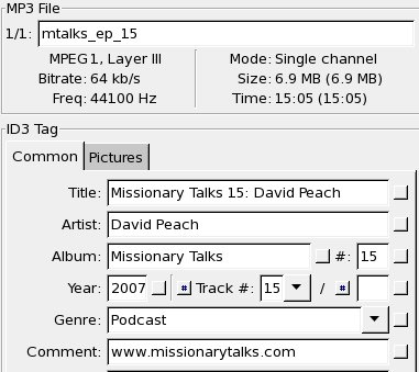 Missionary Talks ID3 Tags