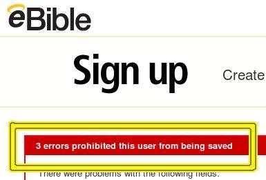 eBible error