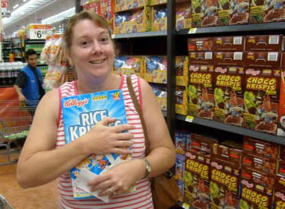 Steph and her Rice Krispies